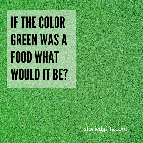 if the color green was a food