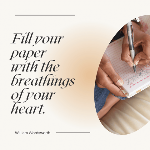 fill your pages with the breathings of your heart quote