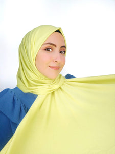 Hijab Jersey giallo fluo
