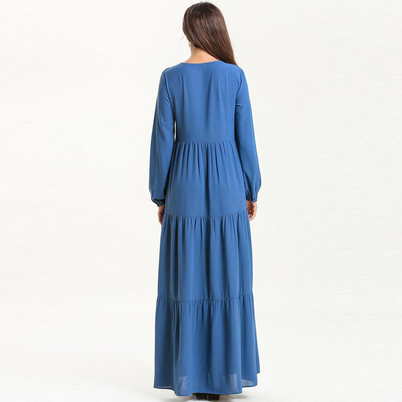 Long Maxi Abaya | Embroidery Abaya Dress