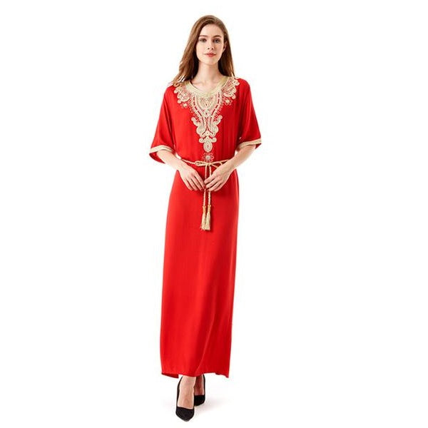 Moroccan Kaftan Dress | Embroidery Kaftan
