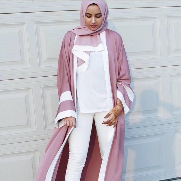 Chic Cardigan Abaya With Scarf