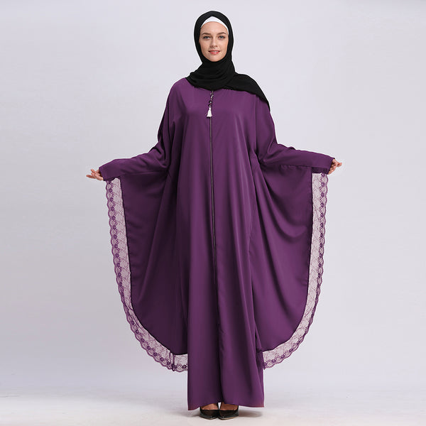 Black Prayer Abaya | Bat Sleeve Dress