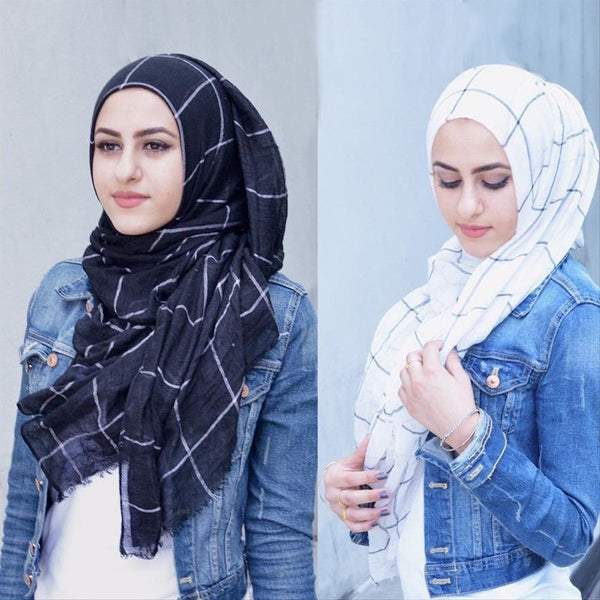 Striped Cotton Hijab | Comfy Striped Hijab