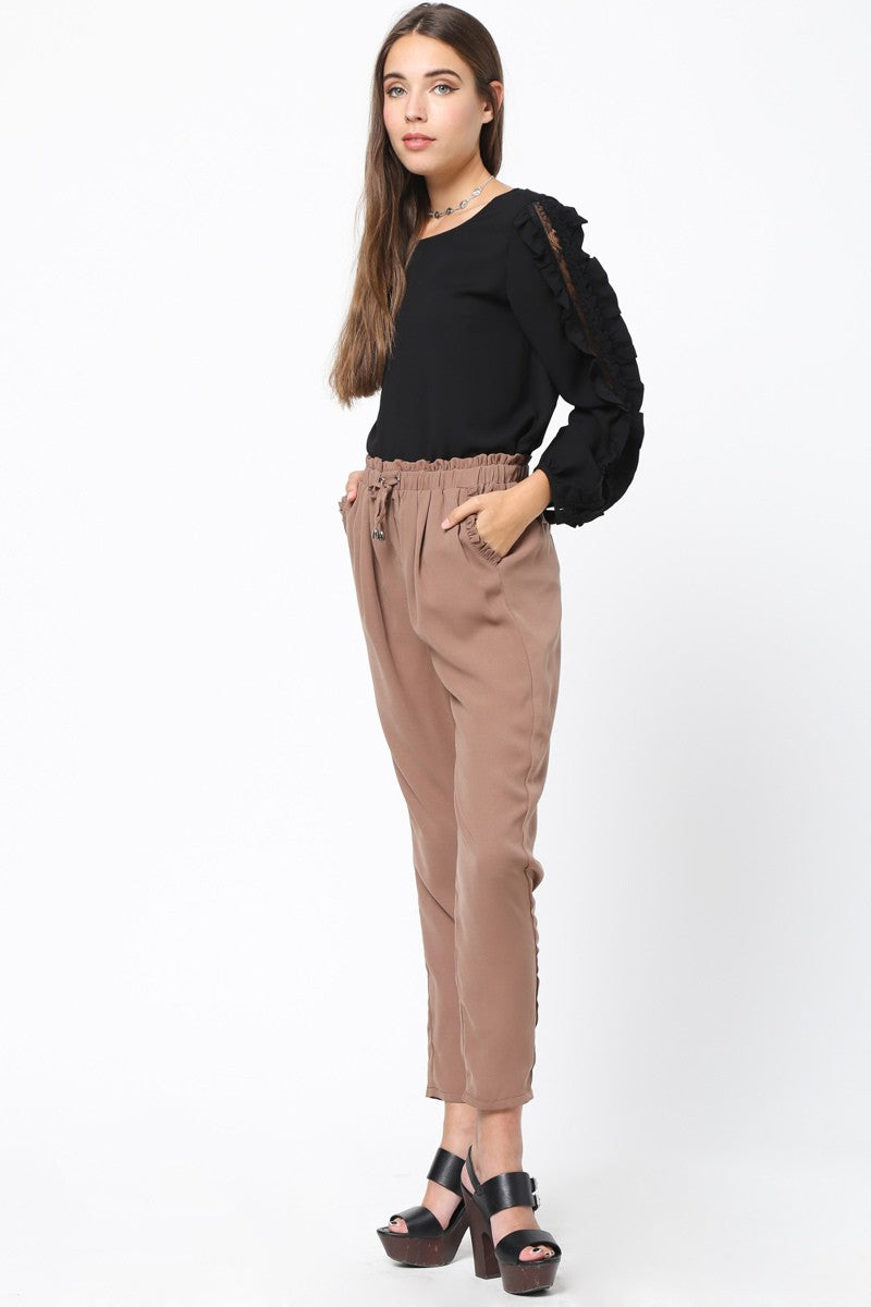 Ruffled Dress Pants