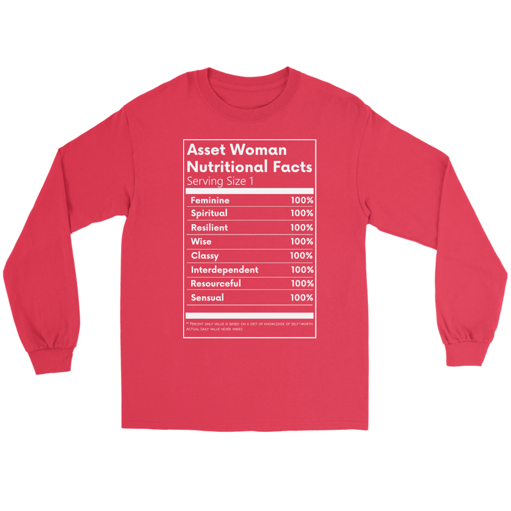 Asset Woman Nutritional Facts Women's Long Sleeve Red