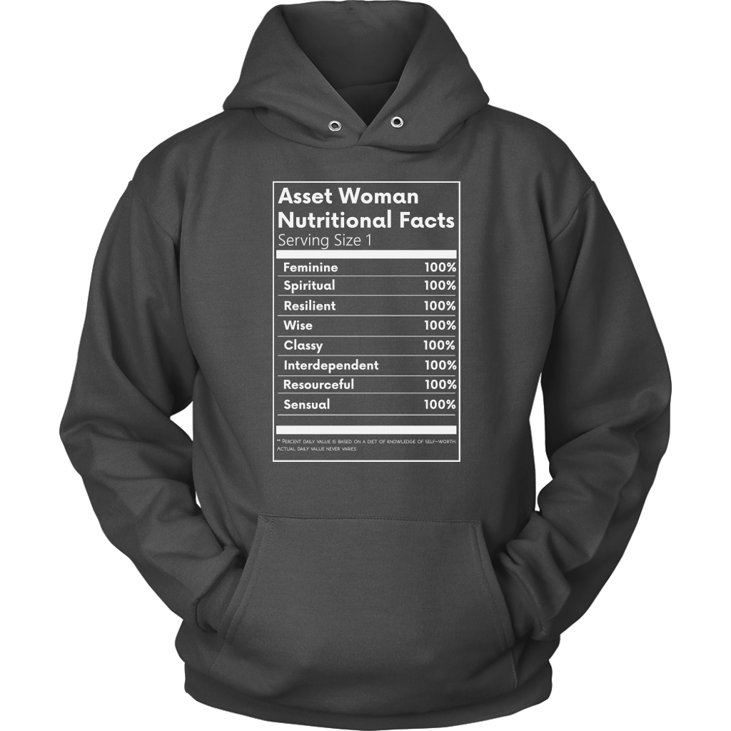 Asset Woman Nutritional Facts Women's Hoodie