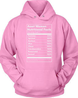 Asset Woman Nutritional Facts Women's Hoodie Black