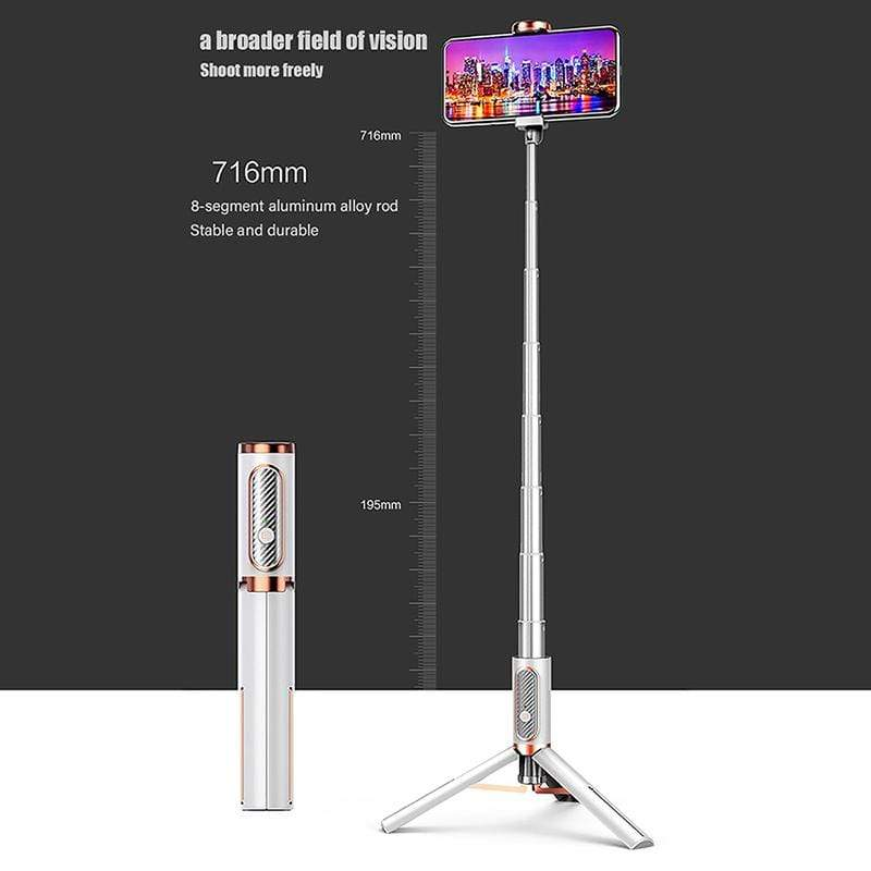 Extendable Selfie Stick Tripod with Detachable Wireless Remote Phone Selfie Stick Holder