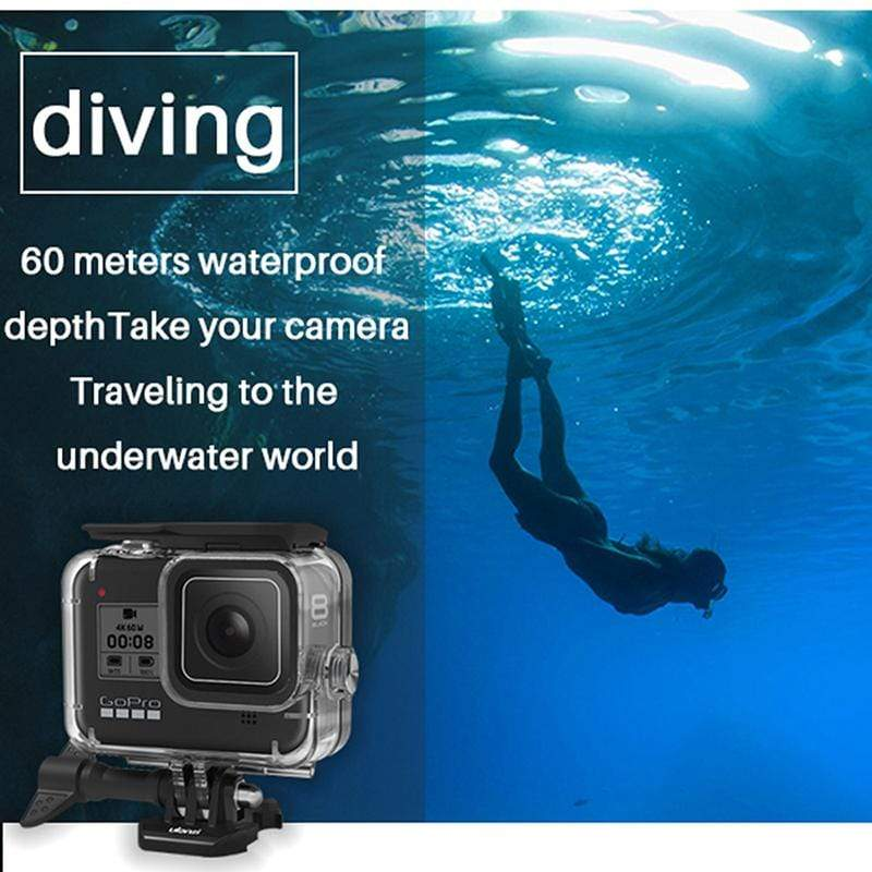 G8-1 Black Housing Case For GoPro Hero8
