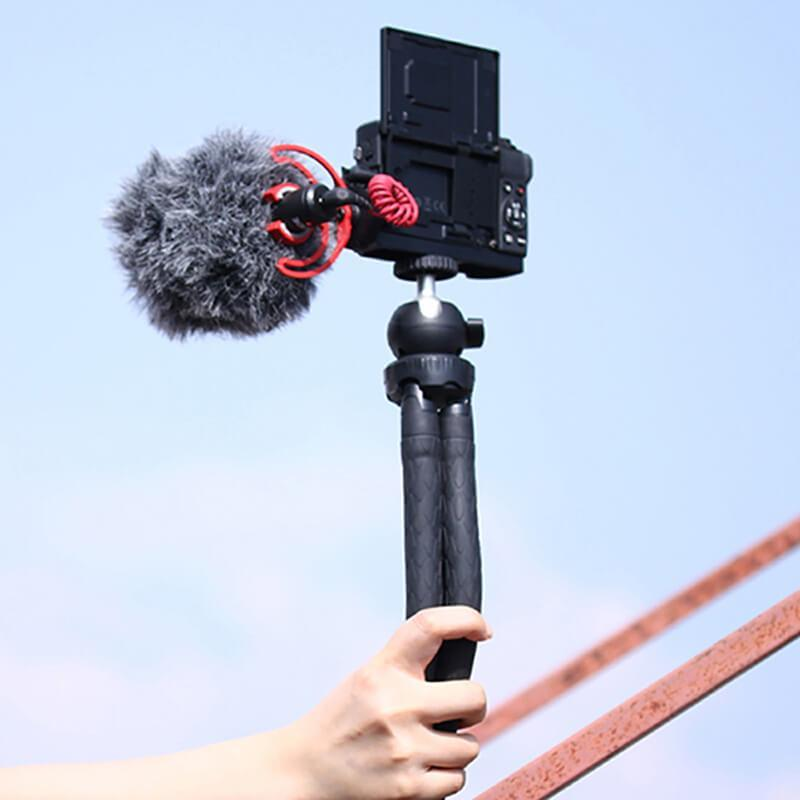 UURig L Cold Shoe Microphone Vlog Mount for Canon G7X Mark III