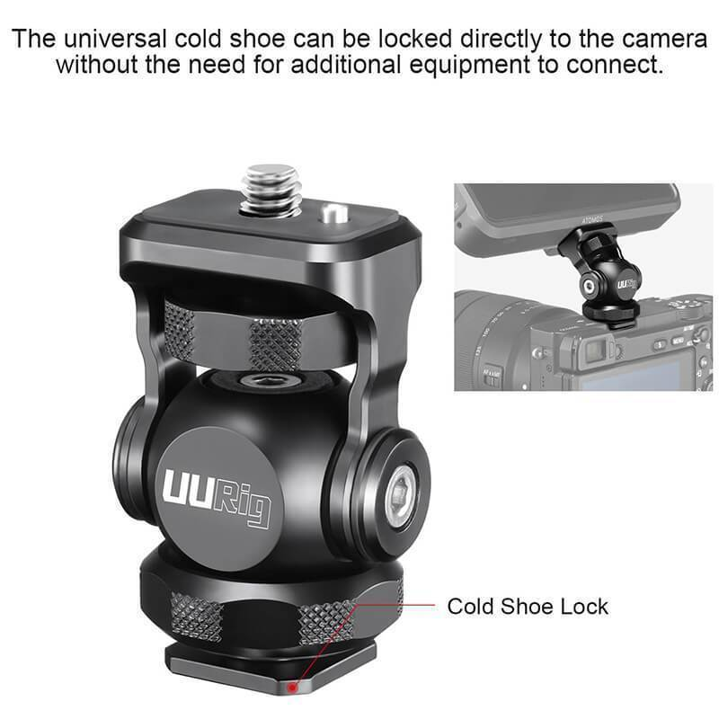 UURig R015 Cold Shoe Monitor Mount
