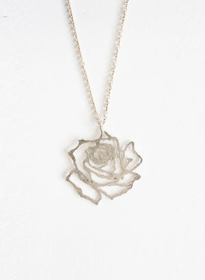 Small Cut Out Rose Pendant