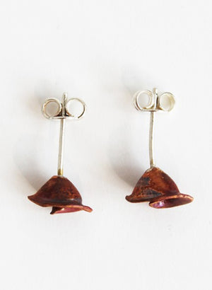 Copper Shell Rose Studs