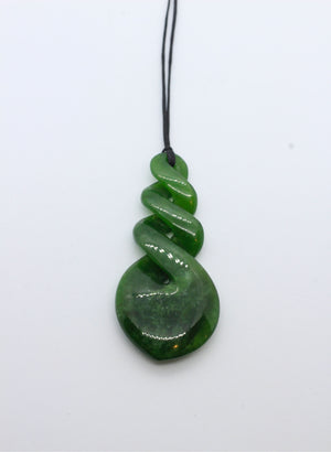Triple Twist Greenstone Pendant