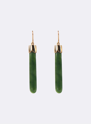 Medium Pounamu Drop Earrings
