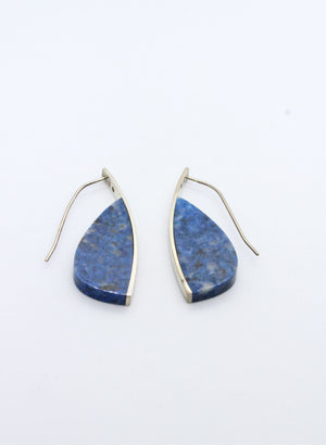 Curve Earrings - Blue