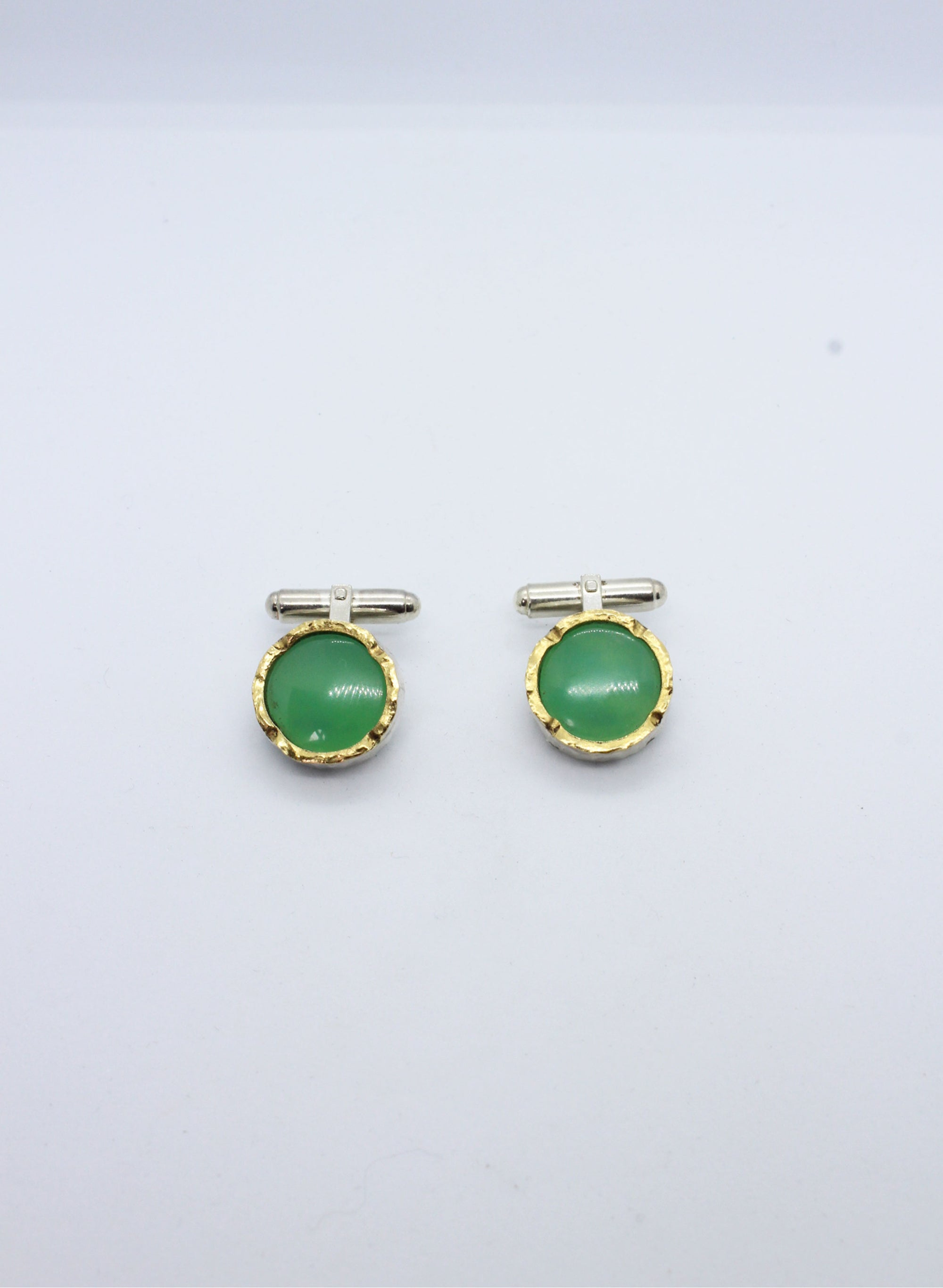 Chrysoprase Cufflinks