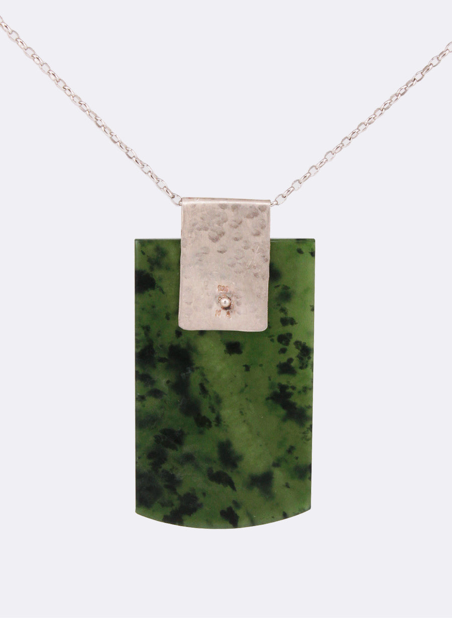 Rectangular Pounamu Slice Necklace