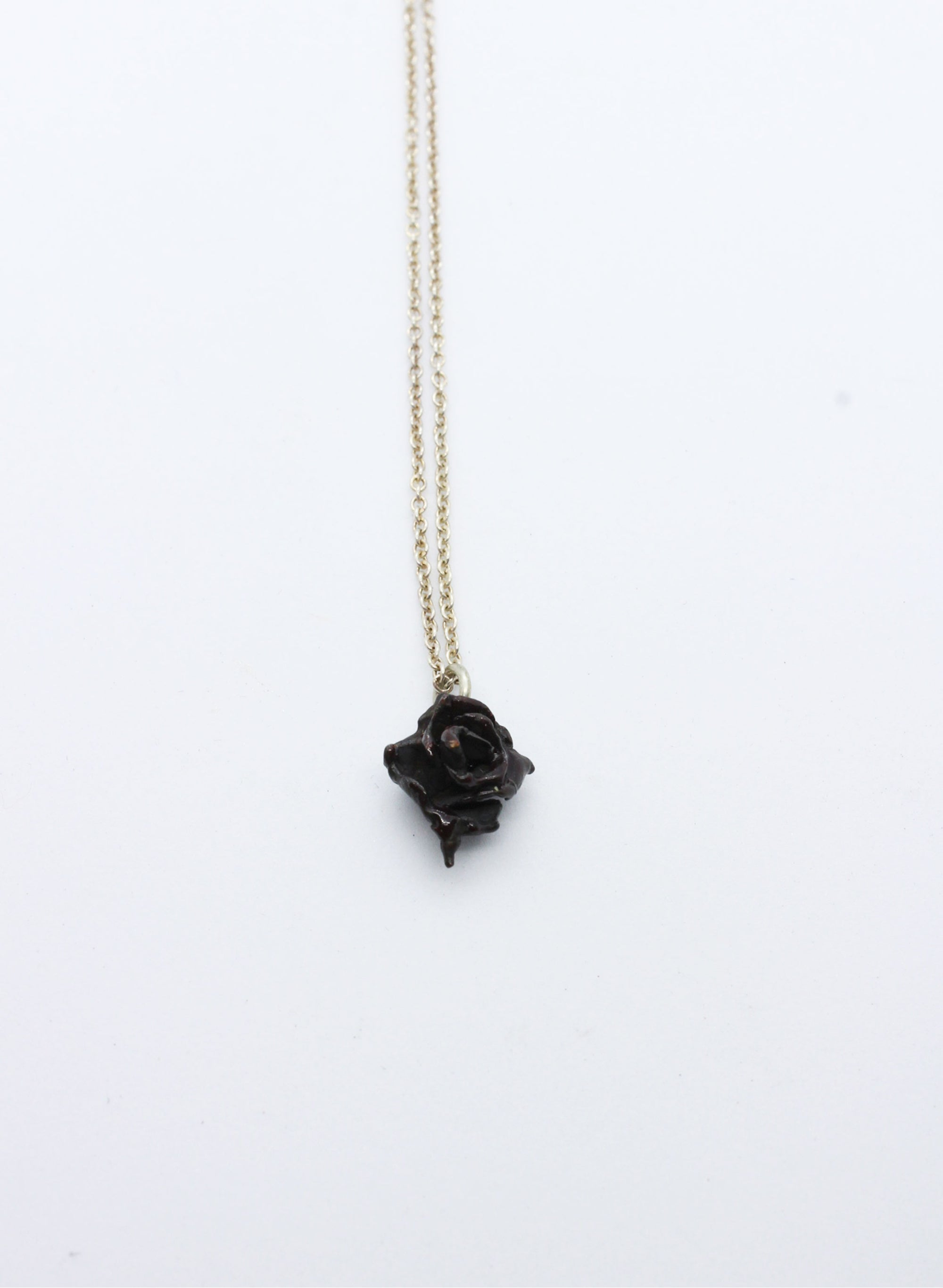 Small Rose Necklace - Dark Bronze