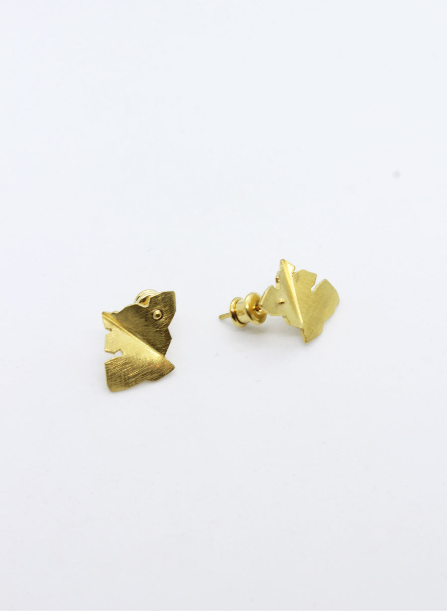 Gold Leaf Structure Earrings