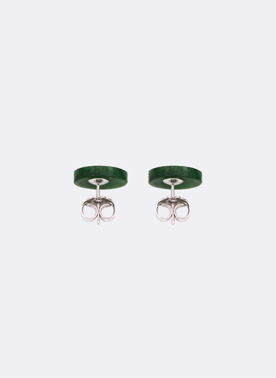 Medium Greenstone Studs