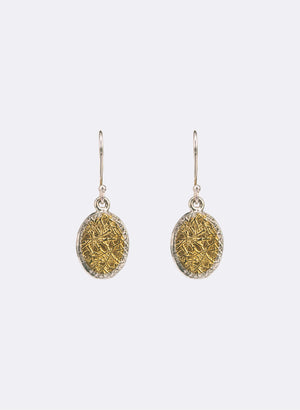 Texture Oval earrings
