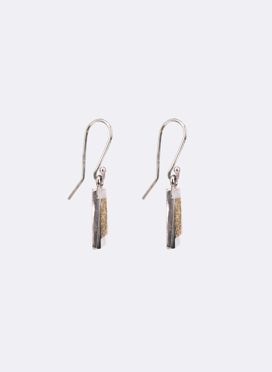 Texture Rectangle Earrings