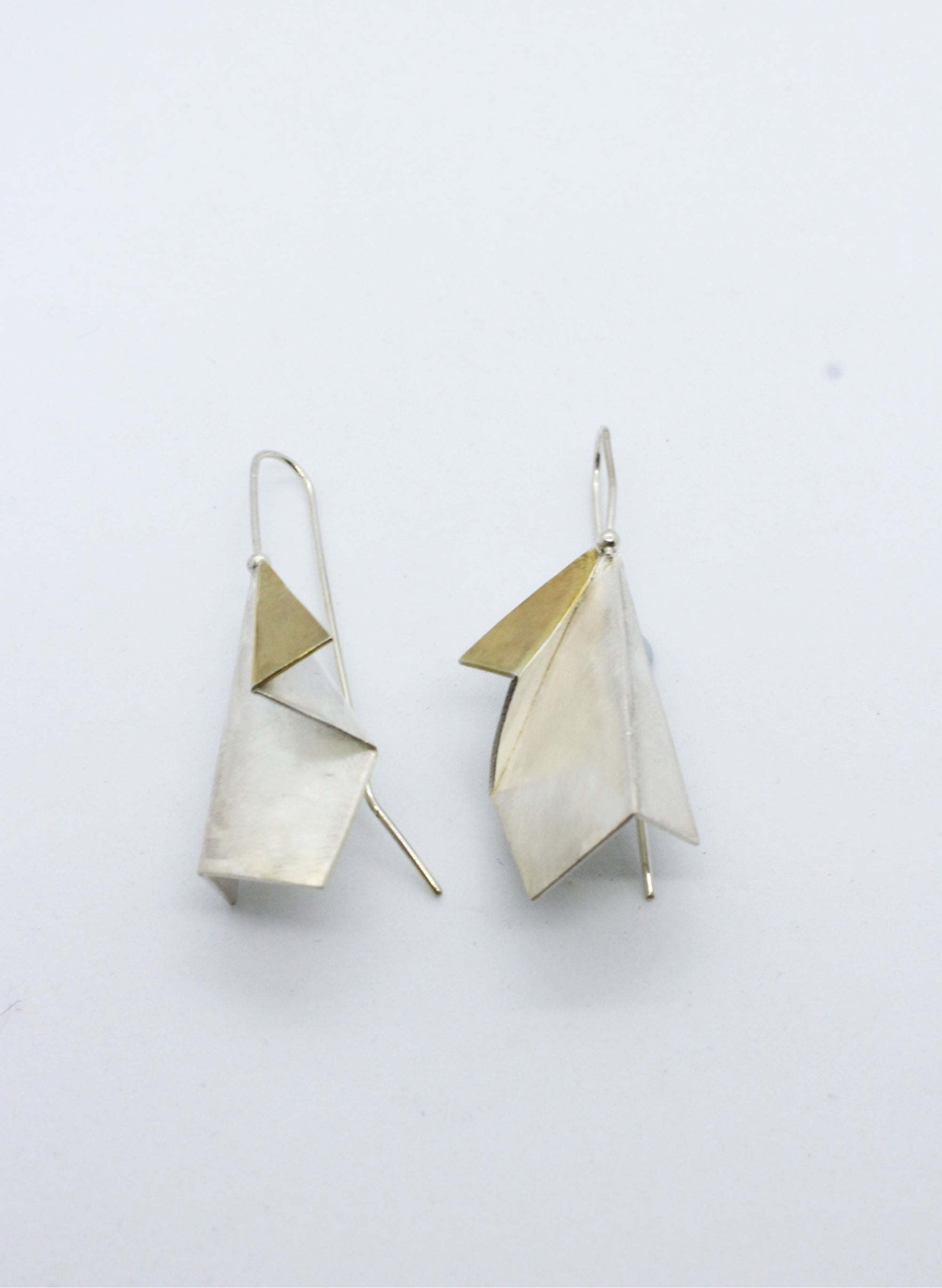 Origami Folded Hook Earrings