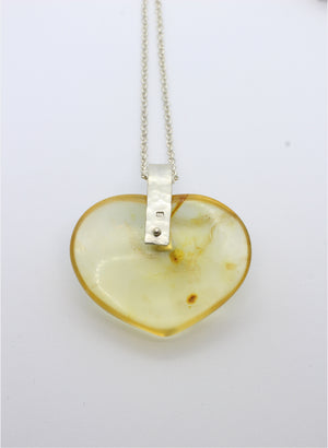 Kauri Gum Heart Shaped Necklace