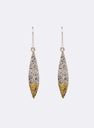 Texture Leaf Earrings