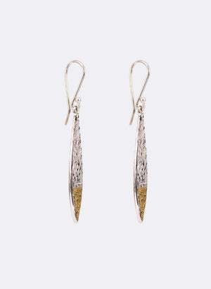 Small Texture Leaf Earrings