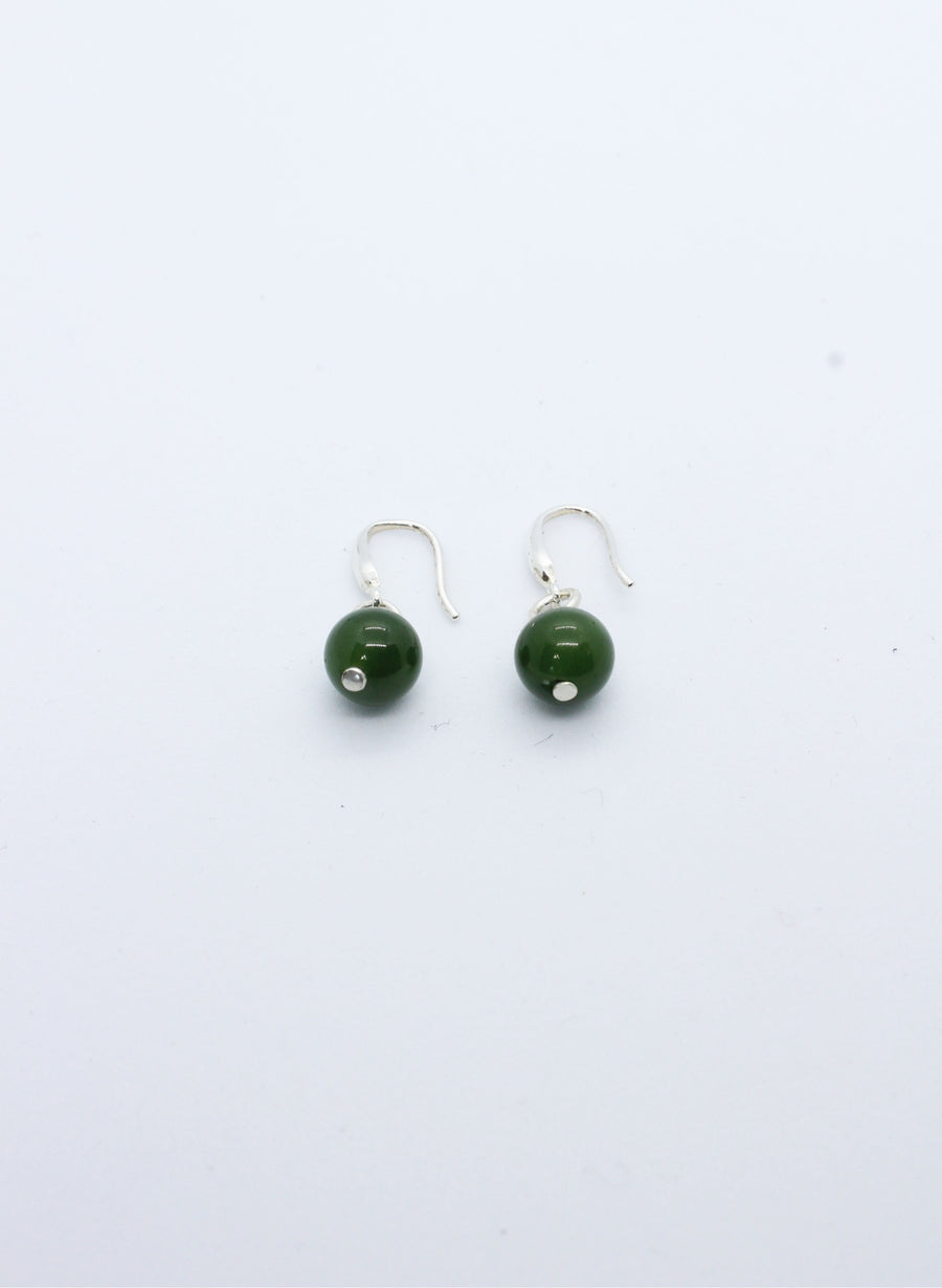 Greenstone Single Ball Earrings