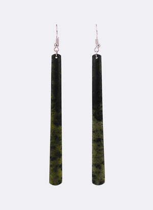 Long Pounamu Drop Earrings 5