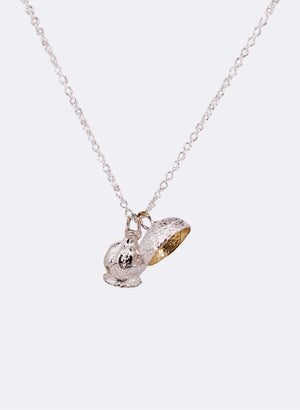 ANZAC Poppy & Acorn Necklace - Sterling Silver & Gold Plating