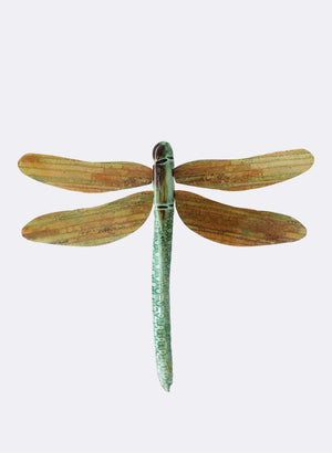 Ceramic Dragon Fly - Copper Rushes