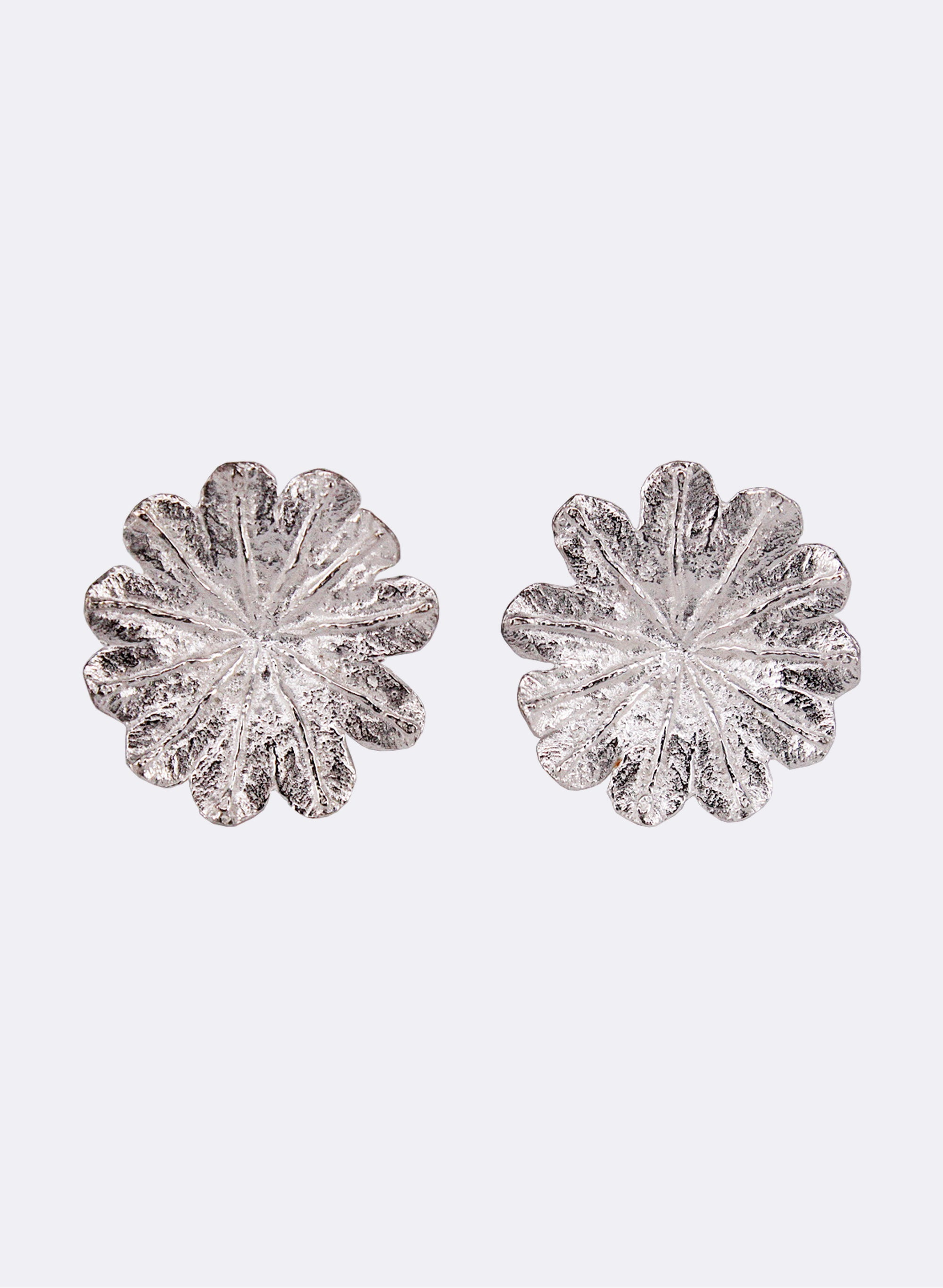 Poppy Top Studs - Sterling Silver