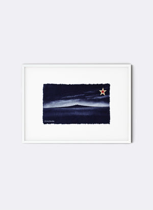 Rangitoto - Postcard Artwork - Navy