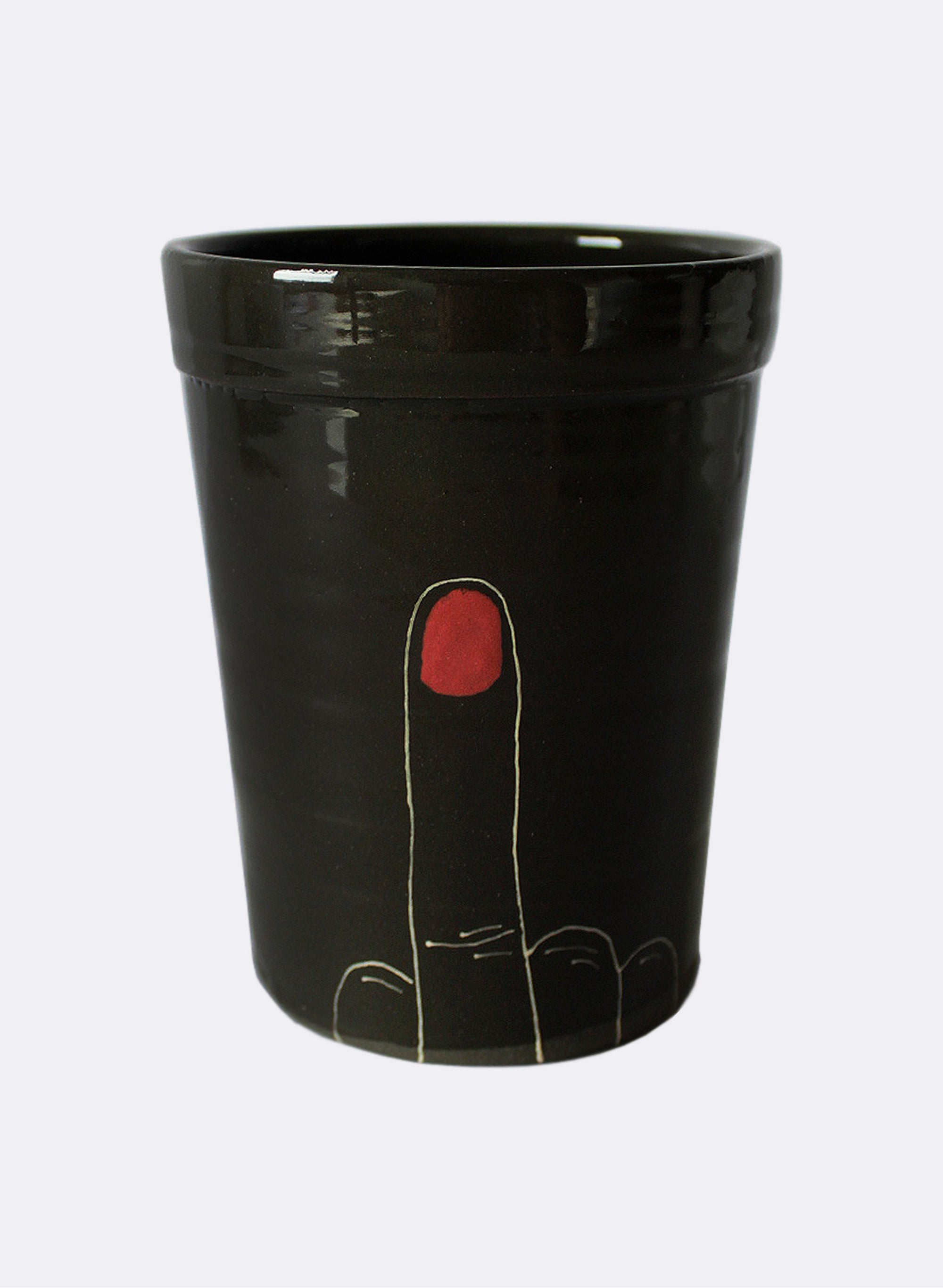 Black Finger Cup
