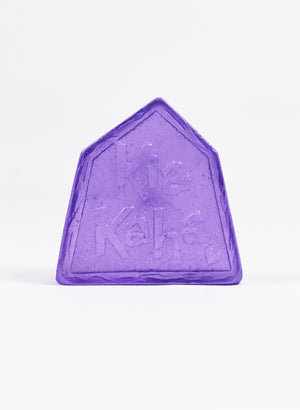 Small Cast Glass Object 'Kia Kaha' - Hyacinth
