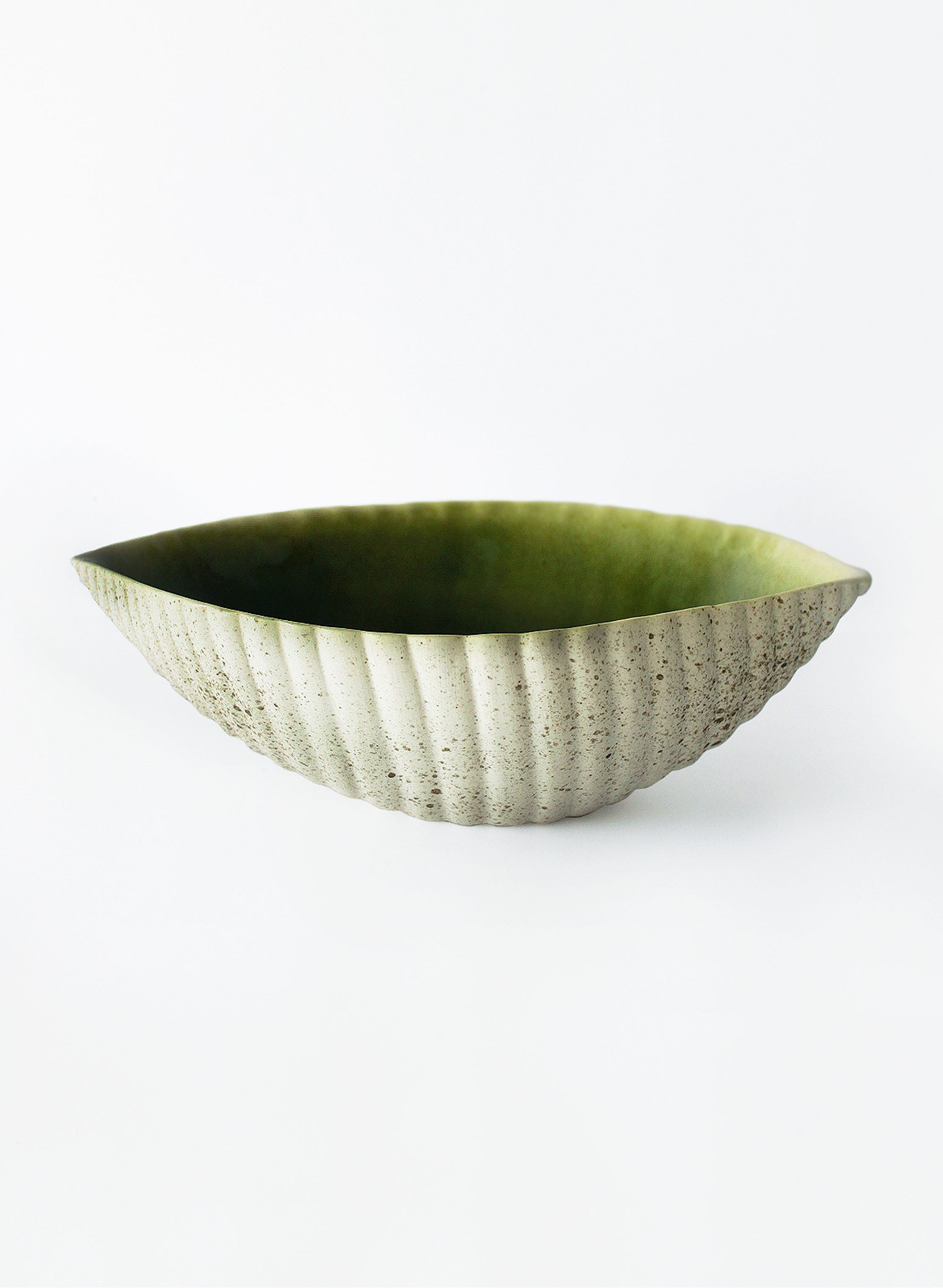 Large Ceramic Seed Pod Dish -  Green