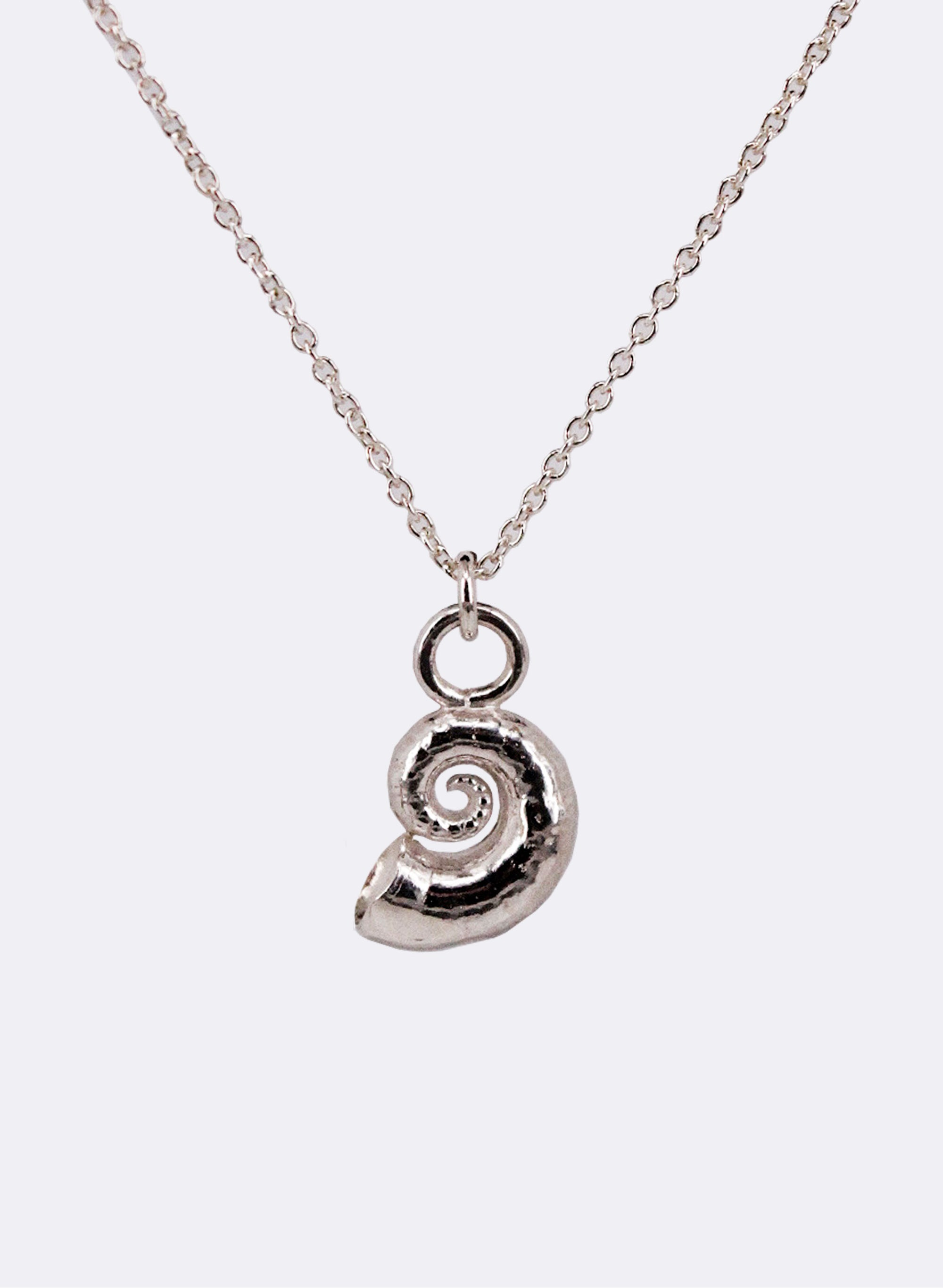 Spiral Shell Necklace - Silver
