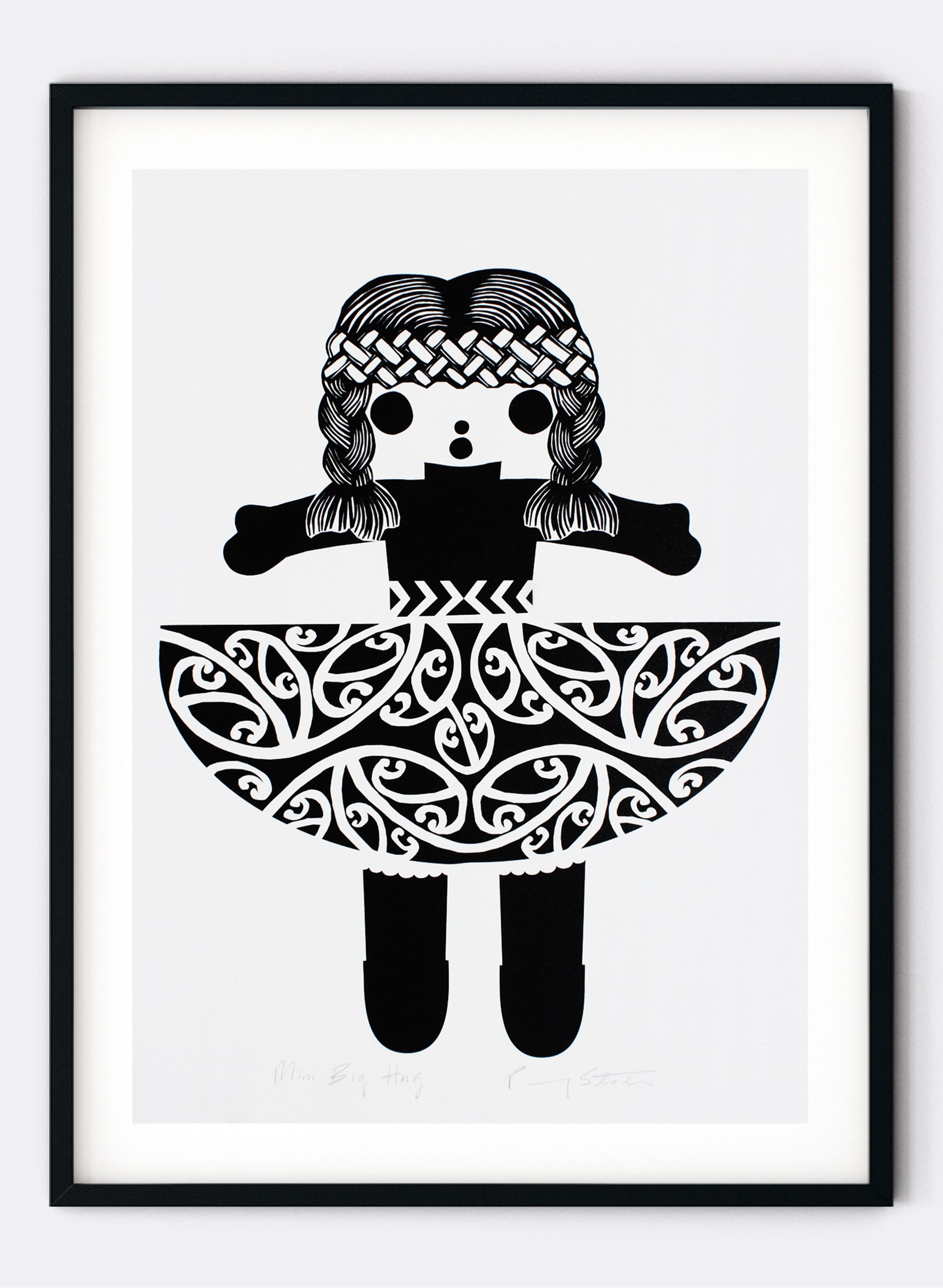 Mini Big Hug | Black - Screen Print