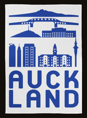 Auckland City Tea Towel - Blue
