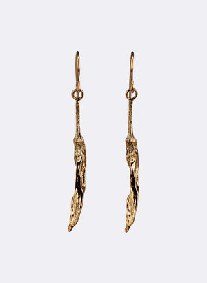 Chilli Drop Earrings - Gold Plated