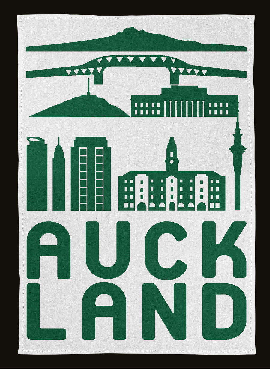 Auckland City Tea Towel - Green