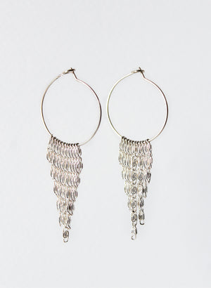 Silver Chain Waterfall Earrings