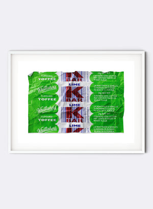 K Bar Print - Lime - Framed
