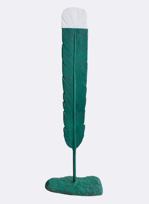 Green Huia Feather
