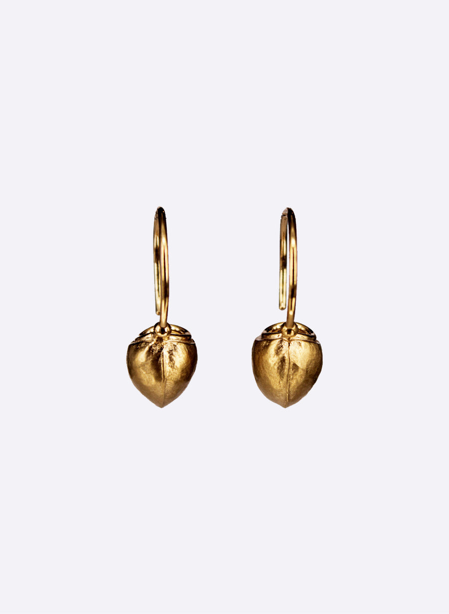 Gold Fruit Vessel Earrings